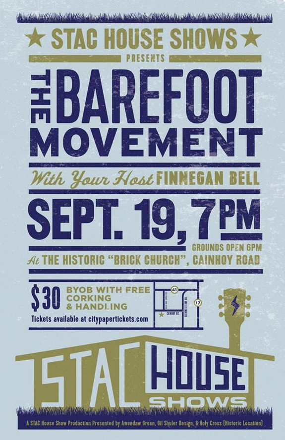 stac house poster the barefoot movement