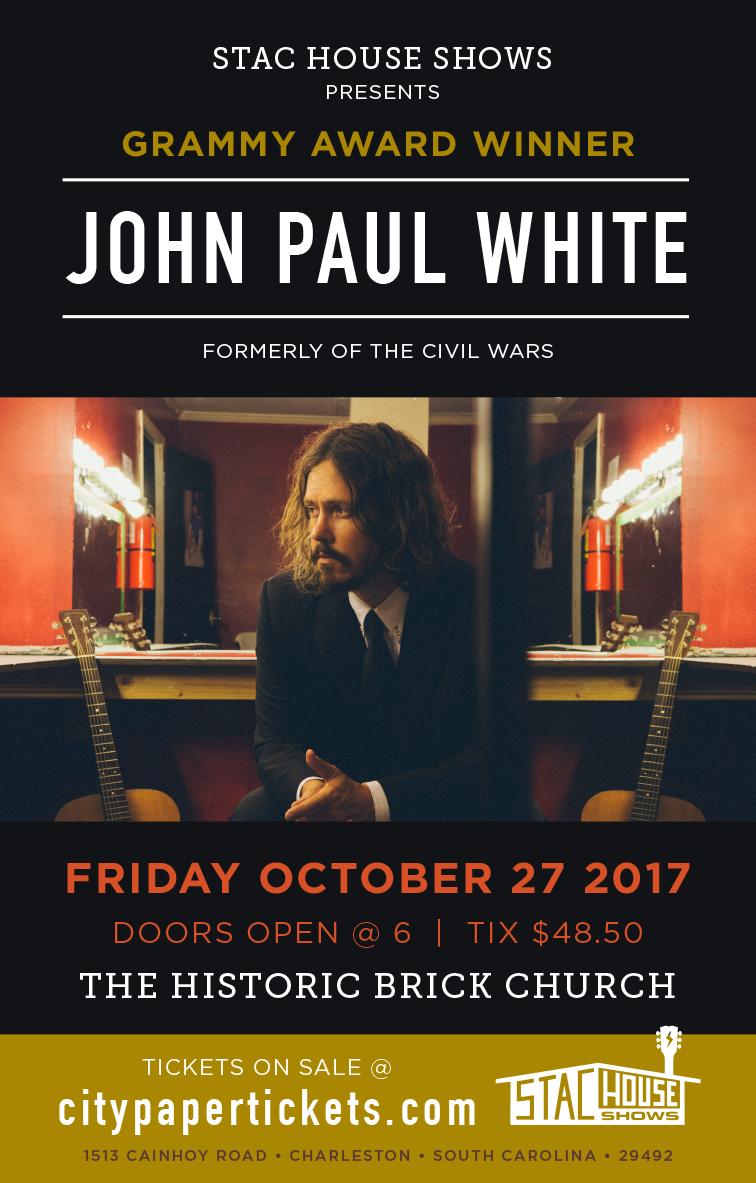 stac house shows john paul white poster